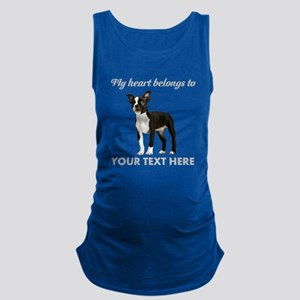 Personalized Boston Terrier Maternity Tank Top