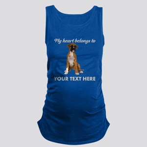 Personalized Boxer Dog Maternity Tank Top