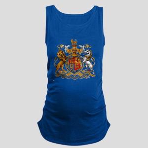 British Royal Coat of Arms Maternity Tank Top