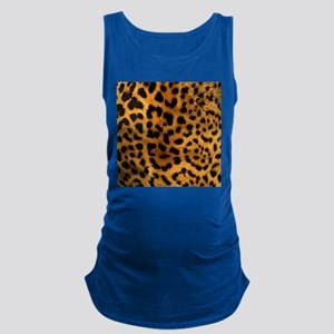 girly trendy leopard print Maternity Tank Top