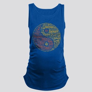 Yin Yang Spiritual Word Art Maternity Tank Top