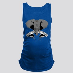 Save The Elephant Maternity Tank Top
