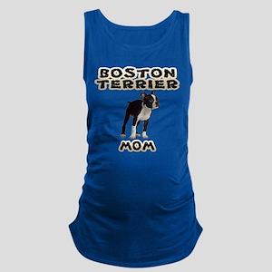 Boston Terrier Mom Maternity Tank Top
