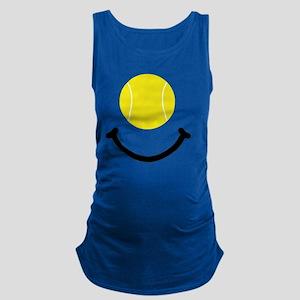 Tennis Smile Black Maternity Tank Top