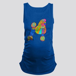 Pretty poodle Maternity Tank Top