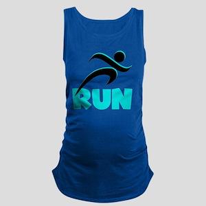 RUN Aqua Maternity Tank Top