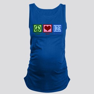Peace Love Numbers Maternity Tank Top
