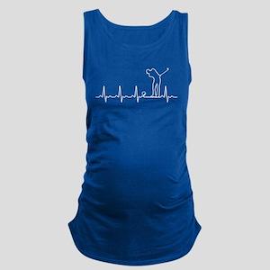 Golf Heartbeat T shirt Tank Top