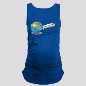 World transport design with glo Maternity Tank Top