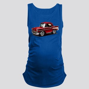 BabyAmericanMuscleCar_57BelR_Red Maternity Tank To