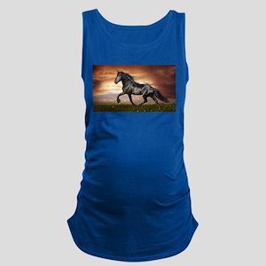 Beautiful Black Horse Maternity Tank Top