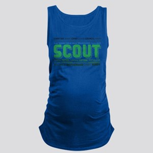 Scout Word Cloud Maternity Tank Top
