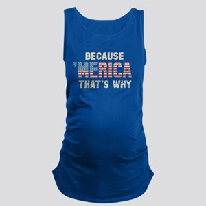 Because 'Merica Vintage Maternity Tank Top
