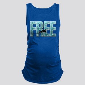 Free Tilly Sea Blue Maternity Tank Top