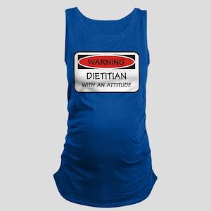 Attitude Dietitian Maternity Tank Top