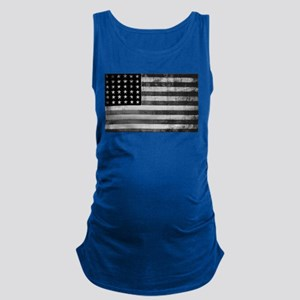 American Vintage Flag Black and Maternity Tank Top