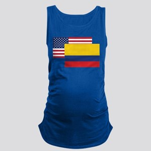 American And Colombian Flag Maternity Tank Top