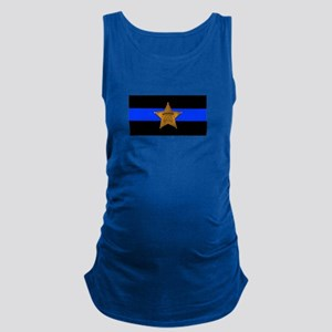 Sheriff Thin Blue Line Maternity Tank Top
