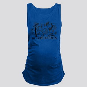 Leave Nothing but Footprints BLK Maternity Tank To