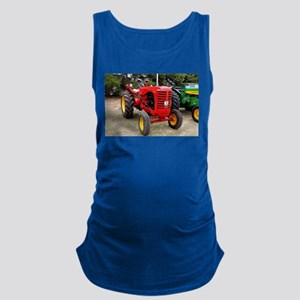 Old red tractor Maternity Tank Top