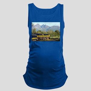 Alaska Railroad locomotive engi Maternity Tank Top