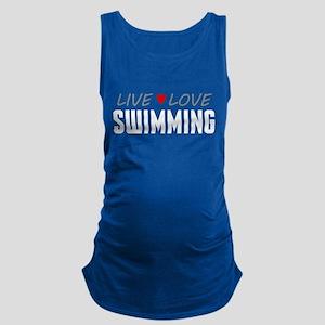 Live Love Swimming Maternity Tank Top