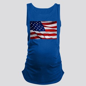 United States Flag in All Her G Maternity Tank Top