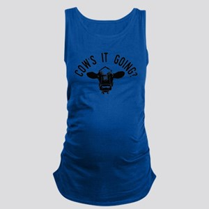 Cows It Going Maternity Tank Top