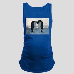 Emperor Penguin Courtship Maternity Tank Top