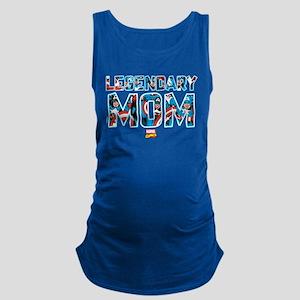Captain America Mom Maternity Tank Top