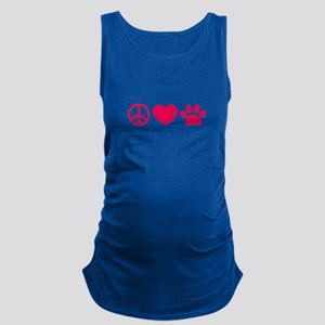 Peace, Love, Pets Maternity Tank Top