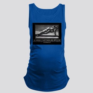 A good partner or spouse Maternity Tank Top