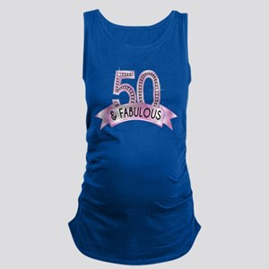 50 & Fabulous Diamonds Maternity Tank Top