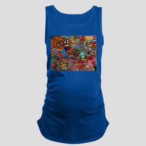 Abstract Painting Maternity Tank Top