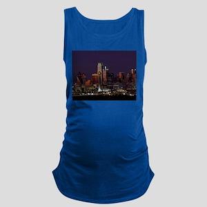 Dallas Skyline at Night Maternity Tank Top