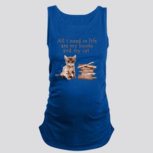 Cats and books Maternity Tank Top