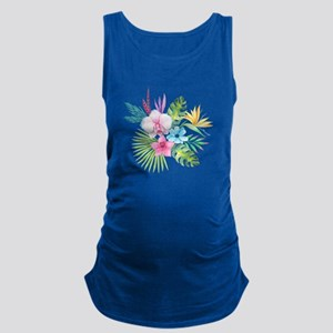 Watercolor Tropical Bouquet 3 Maternity Tank Top