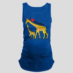 giraffe and baby cp Maternity Tank Top