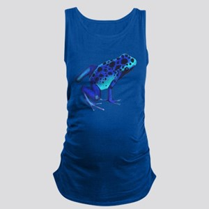 Blue Dart Frog Maternity Tank Top