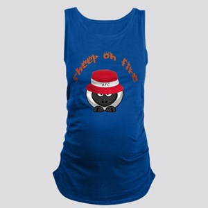 Sheep On Fire Maternity Tank Top