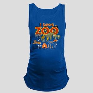 I Love Zoo Maternity Tank Top