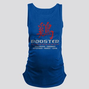 Chinese Zodiac Rooster Traits Maternity Tank Top