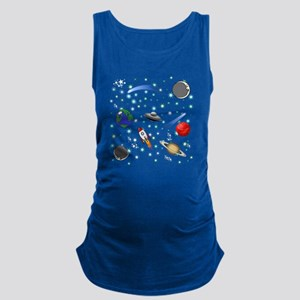 Kids Galaxy Universe Illustrations Tank Top