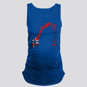 Map Of Norway Maternity Tank Top