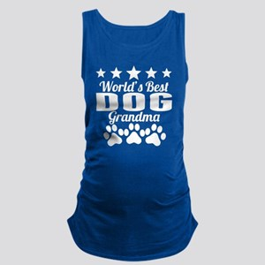World's Best Dog Grandma Maternity Tank Top