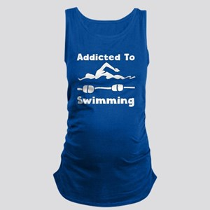 Addicted To Swimming Maternity Tank Top