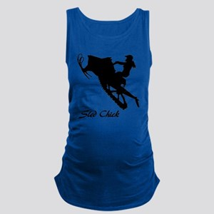 Sled Chick Maternity Tank Top