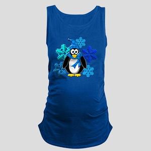Penguin Snowflakes Winter Desig Maternity Tank Top