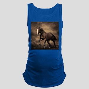 Beautiful Brown Horse Maternity Tank Top