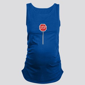Stop Sign Maternity Tank Top